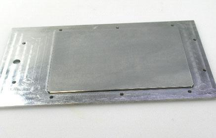 Steel plate before lapping