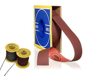 abrasive rolls, abrasive cords and cords