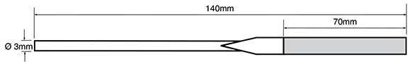 diamond coated needle file dimensions
